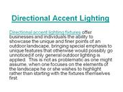 Directional Accent Lighting