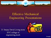 effective presentation for mechanical engineers
