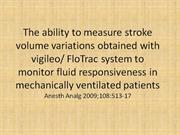 The ability to measure stroke volume variations obtained