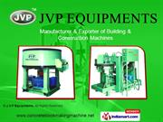 Manual Concrete Block Making Machine By J. V. P. Equipments Coimbatore