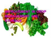 Improvement In Crop Management And Storage