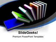 CONSULTING 3D ILLUSTRATION OF COLORFUL BOOKS EDUCATION PPT TEMPLATE