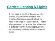 Garden Lighting n Lights