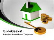 REAL ESTATE BUYING A HOME AND KEY FINANCE PPT TEMPLATE
