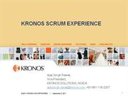 Xebia Scrum India Meetup June 2011 : Kronos Scrum Experience