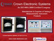 Digital Measuring Instruments By Crown Electronic Systems New Delhi