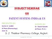 Patent System In India And US