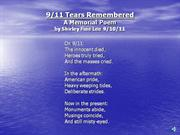 9/11 Tears Remembered - A Memorial Poem