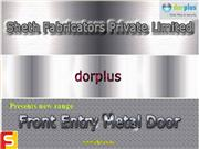 Steel Door Manufacturer-Front Door