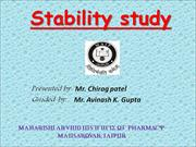 stability study by chirag