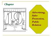 Advertising, Sales Promotion ch 19 & 20 Principle Of Marketing