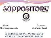 SUPPOSITORY ppt by chirag patel