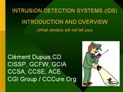 intrusion detection and internet service