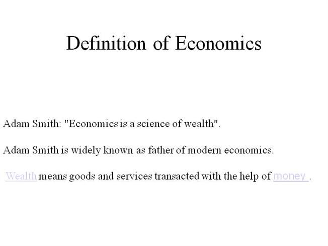 wealth definition economics