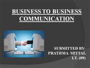 BUSSINESS TO BUSSINESS PRATHMA MITTAL IT-09