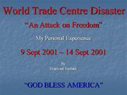 World Trade Centre Disaster