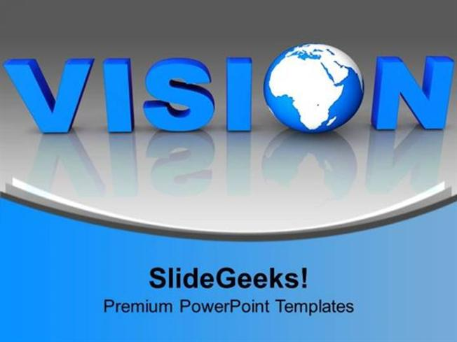 Strategy blue letter vision with globe business ppt template related powerpoint templates toneelgroepblik Image collections