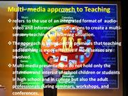Multi-media Approach to Teaching