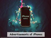 Advertisements of iPhone