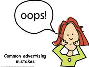Common advertising mistakes