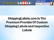 ShippingLabels.com Is The Premium Provider Of Custom Shipping Labels
