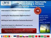 WSI New Business Opportunity in Franchising in Germany