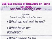National Building Code 2005; Review