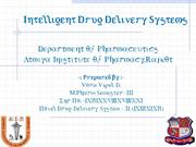 Intelligent Drug Delivery Systems 30 8 2011