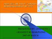 India will be 6th largest emerging market by 2012