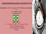chrono pharmacokinetics