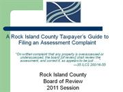 Filing an Assessment Complaint