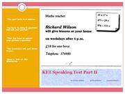KET Speaking Test Part II