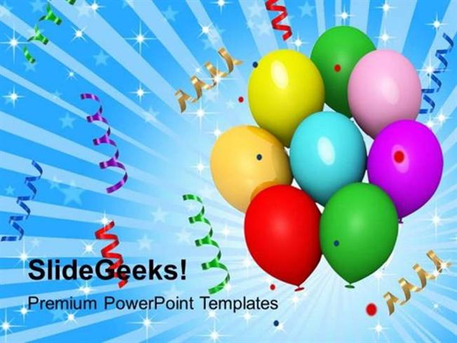 New year balloons streamers and confetti celebration ppt template related powerpoint templates toneelgroepblik Images