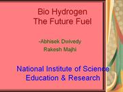 bio-hydrogen the future fuel