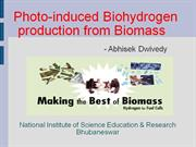 photoinduced bio hydrogen production from biomass