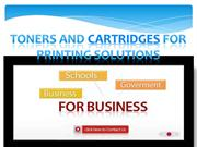 Toners and Cartridges for Printing Solutions- etoners.com.au