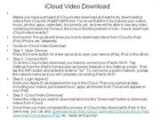 iCloud Video Download