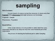 method of sampling