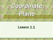 Lesson 1.1 The Coordinate Plane