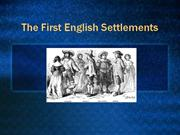 3.1 - The First English Settlements