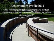 Achievement Profile 2011