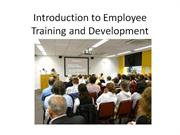 Introduction to Employee Training and Development-ses 3