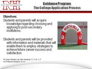 College Application Process - 2011