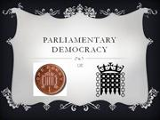 Parliamentary democracy in UK