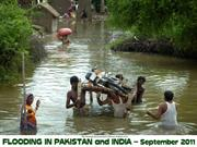 Flood in Pakistan and India September 2011