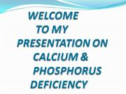 Calcium and Phosphorus deficiency