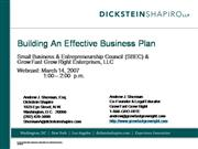 Building Effective Business Plans