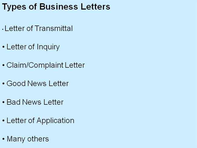 Types Of Business Letters Authorstream