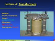 Lecture 04 - Transformers