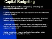 Capital Budgeting